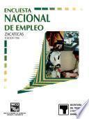 libro Encuesta Nacional De Empleo. Zacatecas. 1996