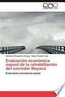 libro Evaluación Económica Expost De La Rehabilitación Del Corredor Boyac