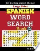 libro Large Print Spanish Word Search Book, 2