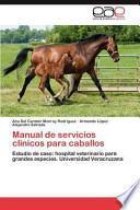libro Manual De Servicios Clínicos Para Caballos