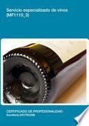 libro Mf1110_3   Servicio Especializado De Vinos