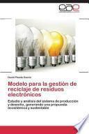 libro Modelo Para La Gestión De Reciclaje De Residuos Electrónicos