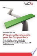 libro Propuesta Metodológica Para Las Cooperativas