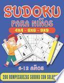 libro Sudoku Para Niños 6-12 Años