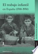 libro Trabajo Infantil En España (1700 1950), El
