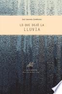 libro Lo Que Dejó La Lluvia