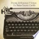 libro Poesia, Reflexiones Y Versos De Matias Tenorio Carrillo