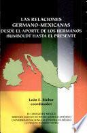 libro Las Relaciones Germano Mexicanas