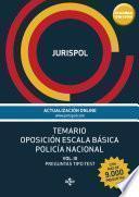libro Temario Oposición Escala Básica Policía Nacional