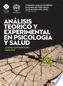 libro Análisis Teórico Y Experimental En Psicología Y Salud