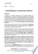 libro Sociogenesis De La Psicologia Cientifica