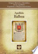 libro Apellido Balboa