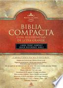 libro Biblia Compacta Con Referencias De Letra Grande/large Print Compact Quick Reference Bible