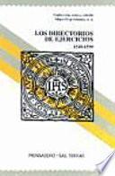 libro Los Directorios De Ejercicios 1540 1599
