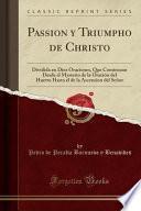 libro Passion Y Triumpho De Christo