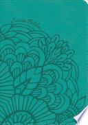 libro Rvr 1960 Biblia Letra Grande Tamaño Manual Aqua, Símil Piel Con índice