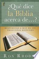 libro ?que Dice La Biblia Acerca De... ?